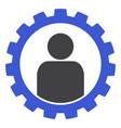 customer setup gear flat icon symbol vector image