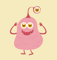 cute monster cartoon character 003 vector image vector image