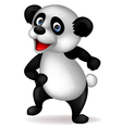 Cute Panda Cartoon Dancing vector image vector image