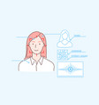 data protection face id biometric scan security vector image