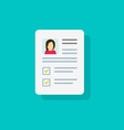 documents with personal data icon flat vector image