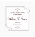 elegant wedding invitation two-sided executed in vector image vector image