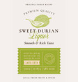 family recipe durian liquor acohol label abstract vector image vector image