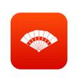 fan icon digital red vector image vector image