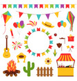 festa junina festival decorative elements vector image