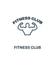 fitness club icon thin outline style design from vector image vector image