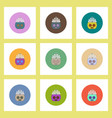 flat icons halloween set of pumpkin and crown vector image vector image
