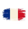 french flag brush grunge background vector image
