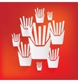 Fried potatoes icon vector image