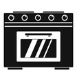 gas oven icon simple style vector image vector image