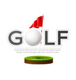 golf tournament poster golf club and ball vector image vector image
