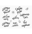 Happiness Russian Typography set vector image