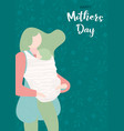 happy mothers day card of woman with baby vector image