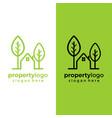 house green logo eco home graphic vector image