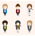 infographic cartoon cute woman in formal suite vector image