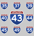 INTERSTATE 35 55 vector image vector image