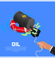 lifebuoy in the businessmans hand vector image