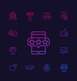 likes followers rating feedback line icons vector image vector image