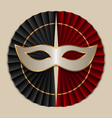 mask with black and red fans vector image vector image