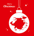 merry christmas theme with map of greensboro vector image vector image