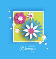 minimalistic 8 march origami happy women s day vector image vector image