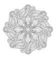 monochrome beautiful decorative mandala vector image