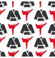 monochrome fitness emblem design seamless pattern vector image vector image