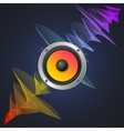 Musical Concept Audio Speaker and Equalizer on vector image vector image