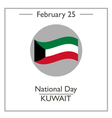National Day in Kuwait vector image vector image