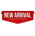 new arrival banner design vector image