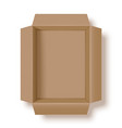 opened shipping box vector image vector image