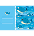 Paper design with whale in water vector image vector image