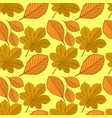 pattern with chestnut and beech autumn leaves vector image