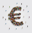 people stand in the shape of a euro money symbol vector image