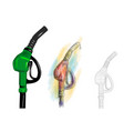 petrol pump vector image vector image