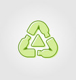 recycle plastic bottle logo icon line outline vector image vector image