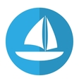 sailboat navigation water recreation shadow vector image