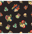 seamless pattern with sandwiches from healthy food vector image vector image