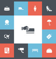 set of 13 editable business icons includes vector image