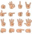 set of cartoon hands vector image