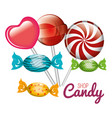 shop candy lollipop sweet graphic isolated vector image