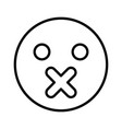silence emoticon black color icon vector image vector image