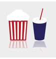 simple popcorn and cola drink for cinema eps10 vector image vector image