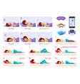 sleeping nice cartoon set vector image vector image