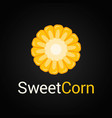sweet corn logo on black background vector image