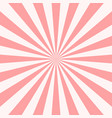 sweet pink candy retro sunburst background sun vector image