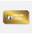 theatre ticket vector image vector image
