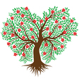 tree in the form of heart vector image