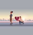 unhappy couple in depression having relationship vector image vector image