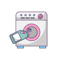 wash machine with detergent bottle vector image vector image